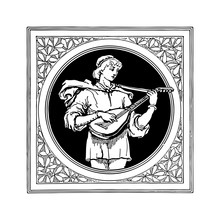 Medieval Male Guitarist