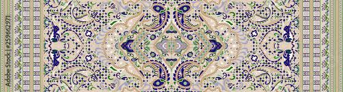 Foto auf Gartenposter Künstlich Seamless traditional indian textile fabric border