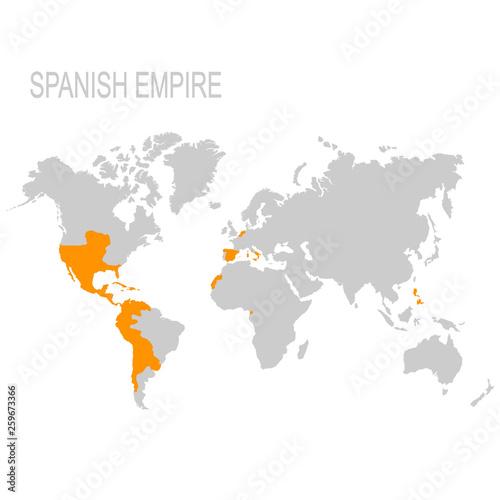 Fotografija vector map of the Spanish Empire