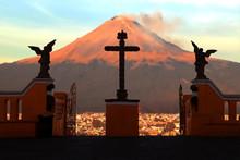 View Of The Active Volcano Pop...
