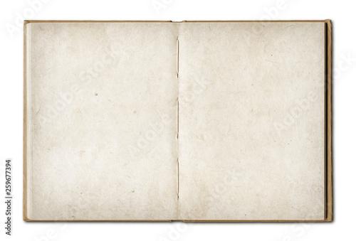 Obraz Vintage open book isolated on white background - fototapety do salonu