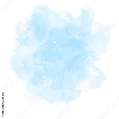 Blue watercolor background Wallpaper Mural