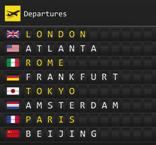 Airplane Departures Destinatio...