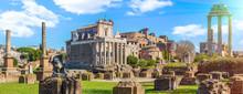 Roman Forum In Sunny Day, Rome...