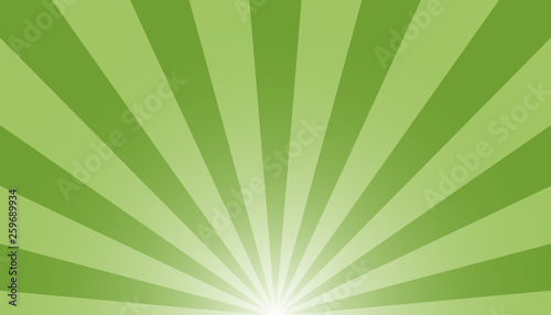 Photographie  Green And White Sunburst Background - Vector Illustration