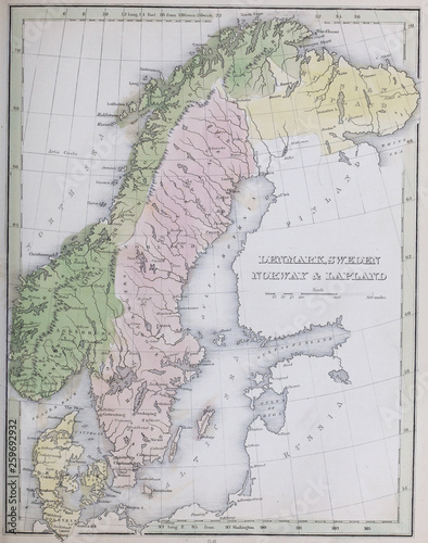 Retro map Canvas Print