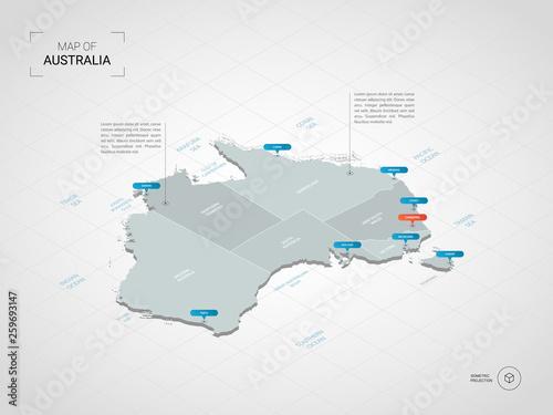 Foto Isometric 3D Australia map