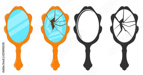 Hand mirror cartoon