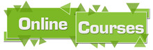 Online Courses Green Horizontal Squares Triangles