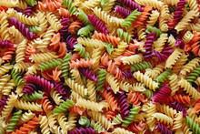 Multi Colored Fusilli Twirls Pasta