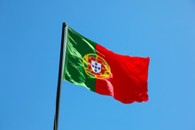 Portuguese Flag Blowing In The Wind