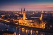 Verona old town during sunset. Verona, Veneto, Italy