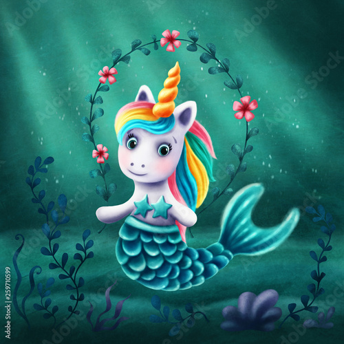 Little marmaid unicorn