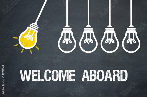 Welcome Aboard Canvas Print
