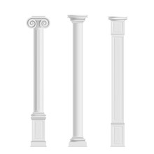 Antique Cylindrical Doric, Ion...