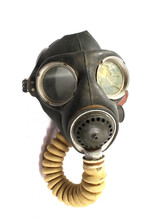 Vintage World War Gas Mask On White Background