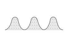 Vector Illustration Of A Roller Coaster Ride - Structure.