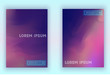Abstract cloudy vector background cover set