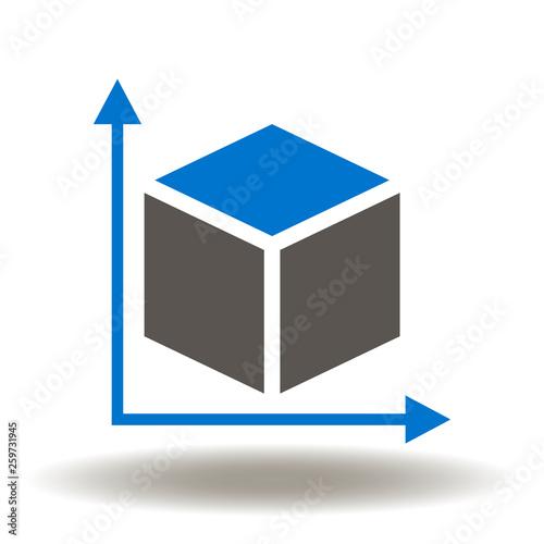 Fotografia, Obraz Dimension icon vector