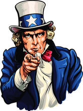 Uncle Sam Vector Illustration ...