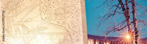 Obraz oslo, norway, norge, norwegia, biblioteka, library, bibliotek, Skandynawia, Scandinavia - fototapety do salonu