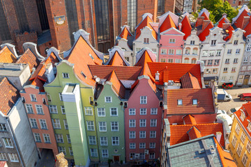 Gdansk. Gdansk. Aerial view of the city.