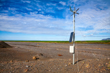 Anemometer Weather Station At Southern Iceland Scandinavia