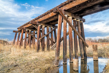 Destroyed Railroad Timber Tres...