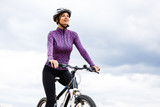 Young woman cycling