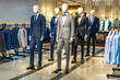 luxury suit in shopping mall
