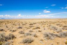 Scenic Desert In New Mexico, USA