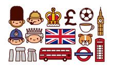 Set Of England Cartoon Icons I...