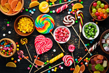 Background Of Colored Candies ...