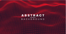 Abstract Digital Background With Red Surface, Network Texture.