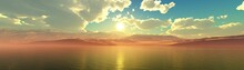 Panorama Of The Sea Sunset, Se...