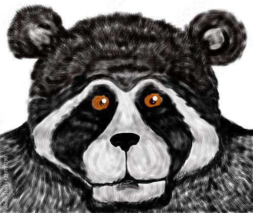 Foto op Canvas Hand getrokken schets van dieren Oso