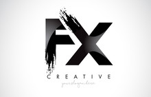 FX Letter Design With Brush Stroke And Modern 3D Look.