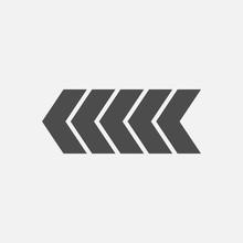 Arrow Icon Isolated On White Background. Vector Illustration. Eps