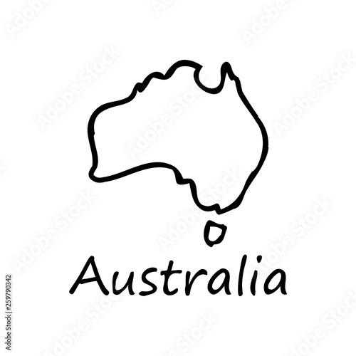 Australia Map Icon.Australia Map Icon Isolated On White Background Vector