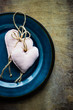 Table setting with hearts