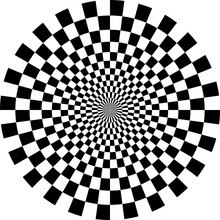 Optical Checkered Circle