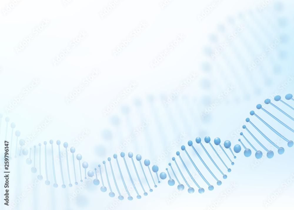 Fototapeta DNA chromosome concept. Science technology vector background for biomedical, health, chemistry design. 3D style