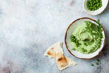 Green Pea Hummus Spread Or Dip...