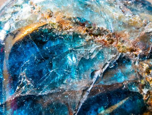 Extreme Close Up Of Blue Quartz Crystal