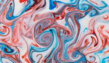 Abstract Flow Of Liquid Paints In Mix