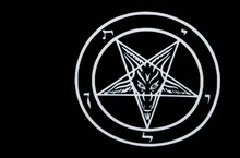 Satanic Pentagram Satan Goat H...
