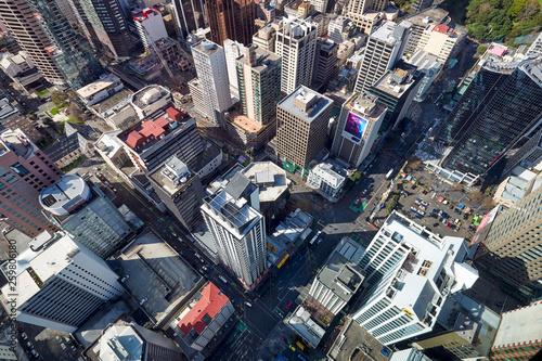 Fototapeten New York Panorama aerial view of Auckland New Zealand