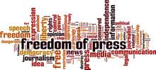 Freedom Of Press Word Cloud