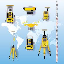 Geodetic Equipment Vector Illu...