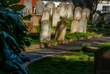 Tombstones At The Old  Cemetery